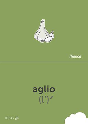 Aglio #CardFly #flience #food #vegetables #italian #education #flashcard #language