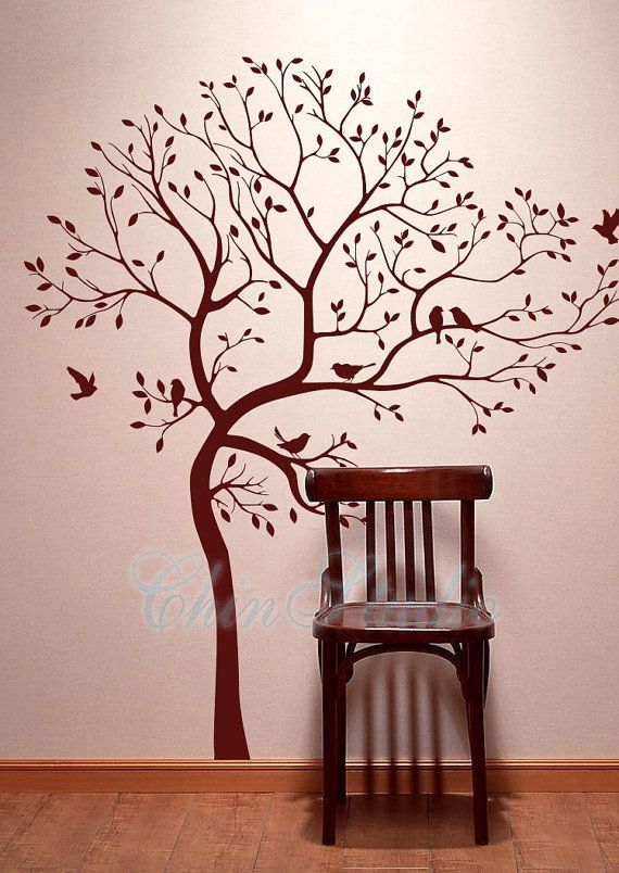 Tree Wall Decals Wall Stickers Living Room Wall Decals Lucky Tree With Birds Wall Decal Home Decor Wall Stickers Living Room Bird Wall Decals Wall Decals #tree #wall #decal #for #living #room