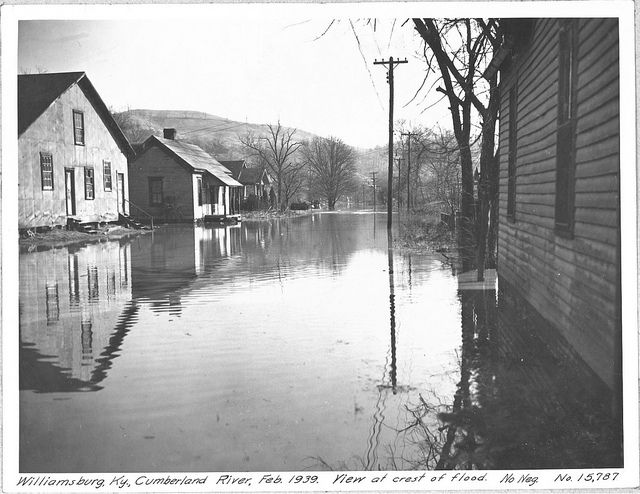 Cumberland River Flood 1939 Williamsburg Kentucky Cumberland