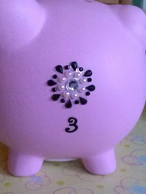 Piggy bank blinged out