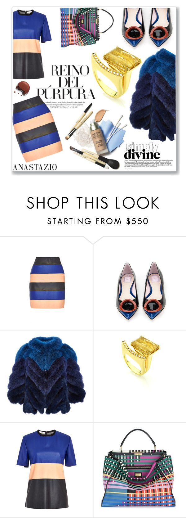 """""""Anastazio-Casual chic"""" by anastazio-kotsopoulos ❤ liked on Polyvore featuring Cédric Charlier, Christian Dior, J. Mendel, Fendi, women's clothing, women, female, woman, misses and juniors"""