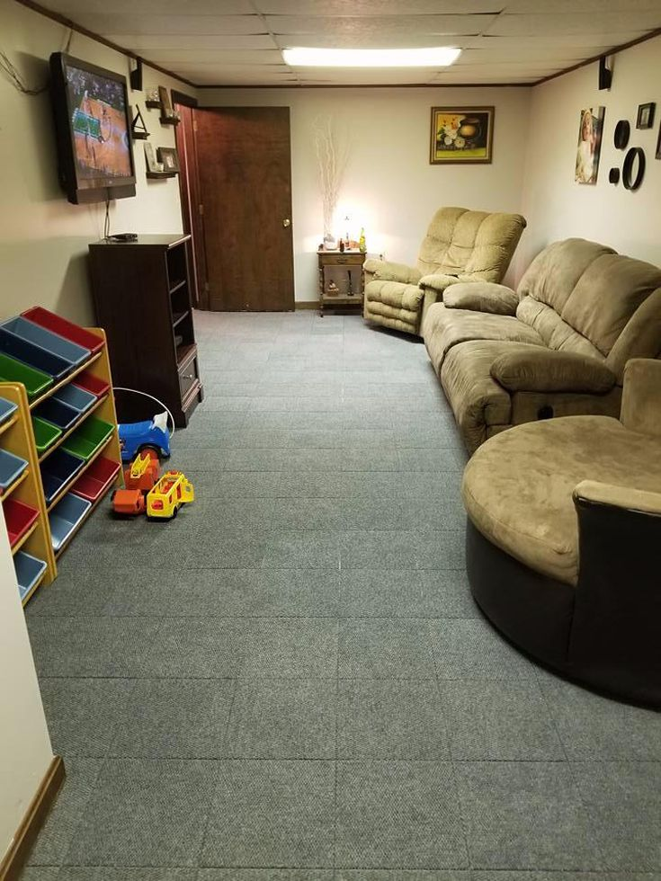 Carpet Tiles Modular Squares in 2020 Basement carpet