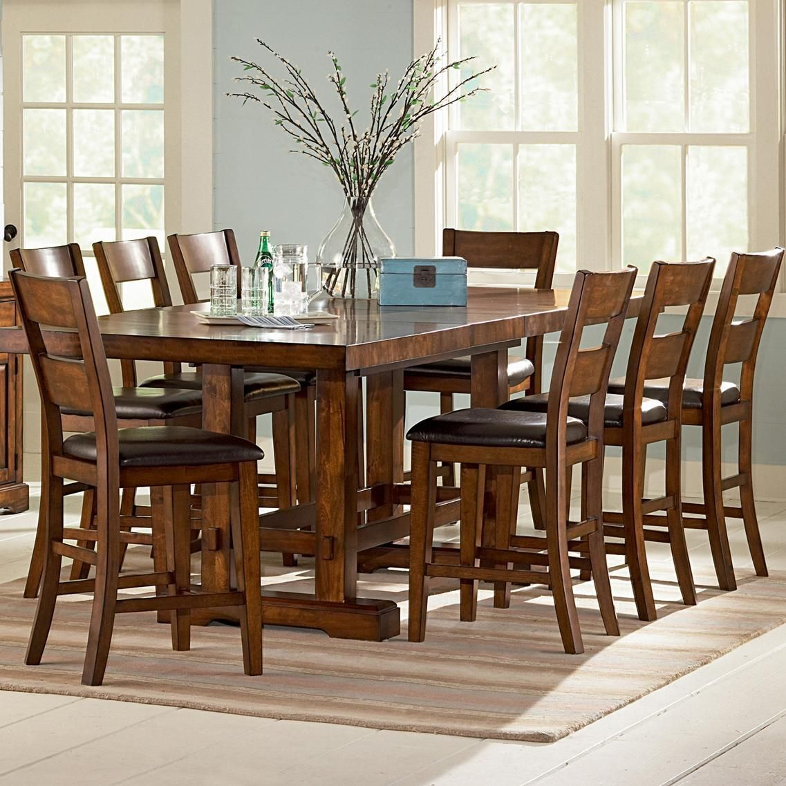 Zappa 9 Piece Counter Height Table Chair Set By Vendor 3985