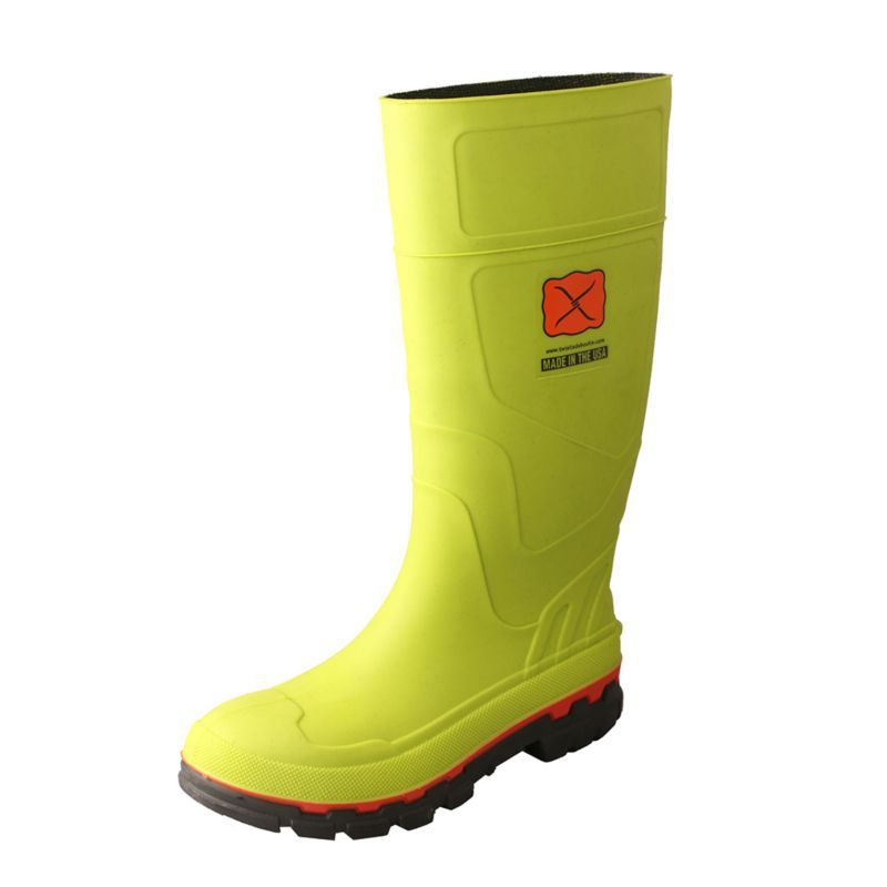 Twisted X Mens Green Mud Boots Mud Boots Rubber Work Boots Boots