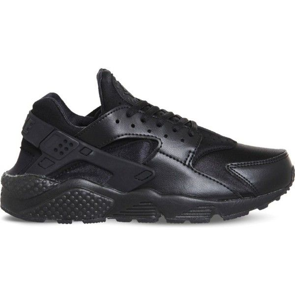 timeless design b275e ccfe2 NIKE Air huarache run ultra mesh trainers ( 115) ❤ liked on Polyvore  featuring shoes, black, almond toe shoes, nike footwear, fleece-lined shoes,  ...