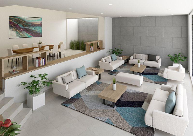 Diseno Interior Casa Con Sala Y Comedor En 2020 Diseno Interiores Casas Diseno De Interiores Disenos De Casas