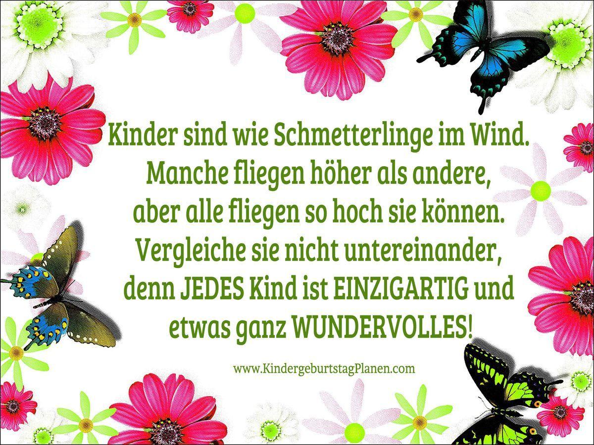 Kinder Sind Wie Schmetterlinge Sprüche Kinder Sprüche Und