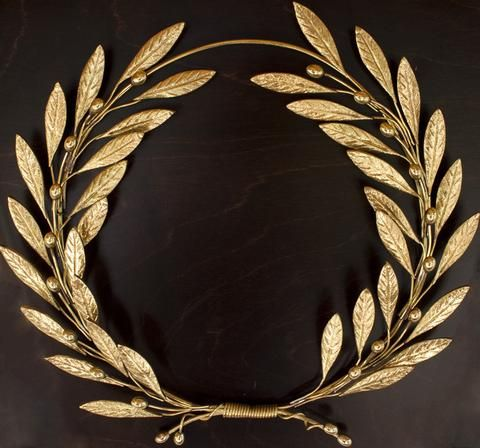 Bronze Olive Tree Leaf Branch Wreath Wall Sculpture   Greek Bronze Wall Art