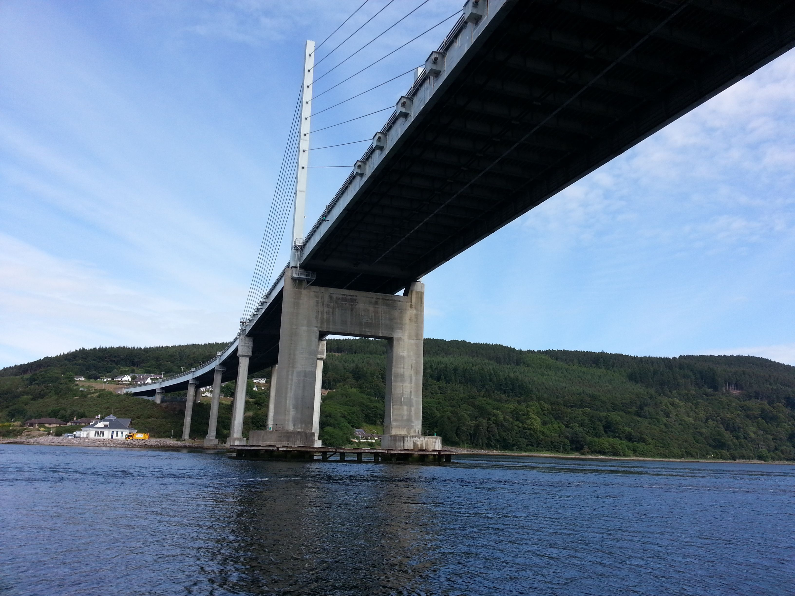 Approaching Kessock Bridge, Inverness from the angle few motorists appreciate.  A much better way to enjoy the bridge!