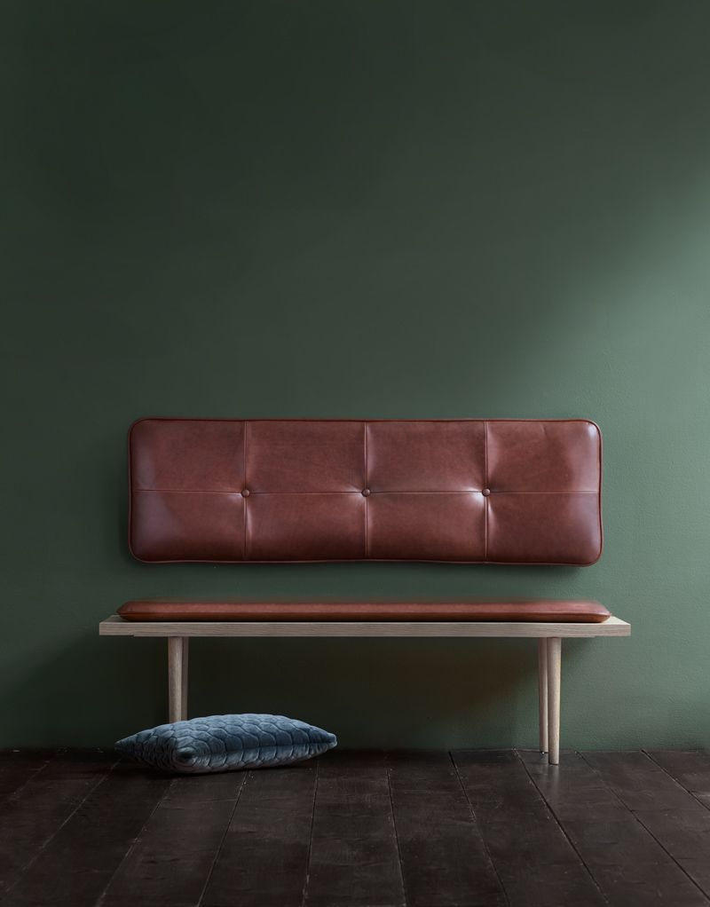 The M headboard - Cognac aniline leather (With images ... on Cognac Leather Headboard  id=41852
