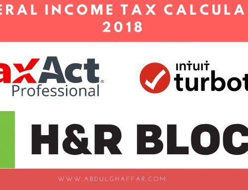 Top 3 Online Federal Tax Calculator 2018 Federal