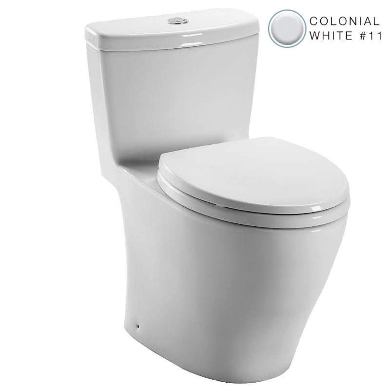 Toto MS654114MF Aquia 1.6 GPF One Piece Elongated Toilet - with Seat Colonial White Fixture Toilet One-Piece Elongated