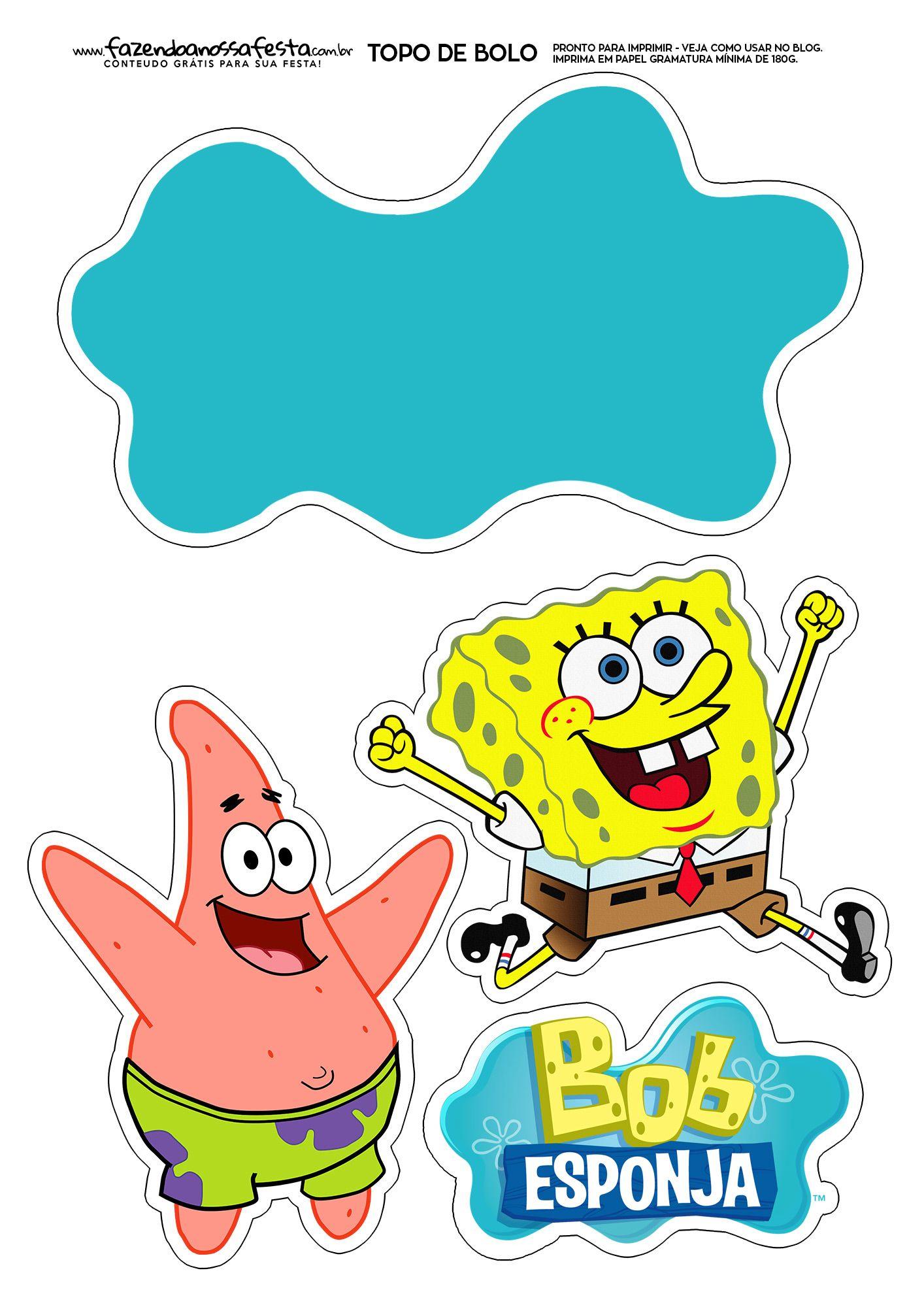 Topo De Bolo Bob Esponja Spongebob Birthday Party Spongebob