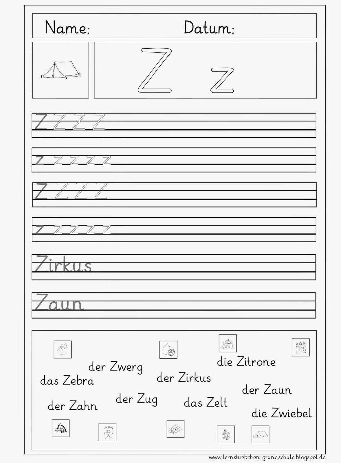 Lernstübchen: DEU 1 Buchstabeneinführung
