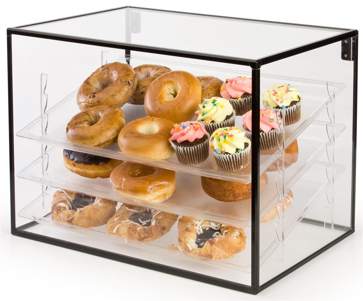 Countertop Bakery Case Acrylic Food Display Case With Three Shelves Included In