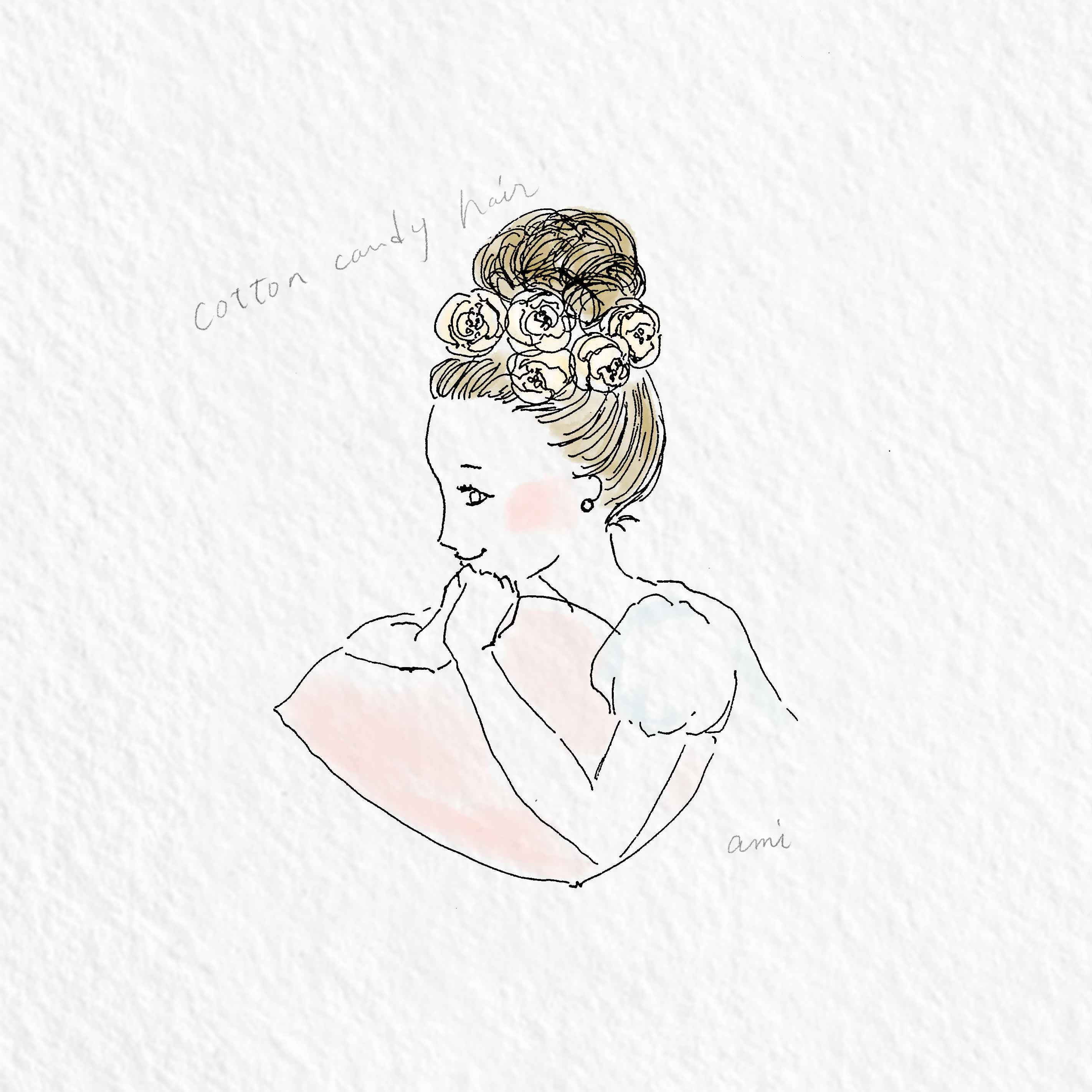 wedding. bride's smile. #illustration #bridal #wedding #dress