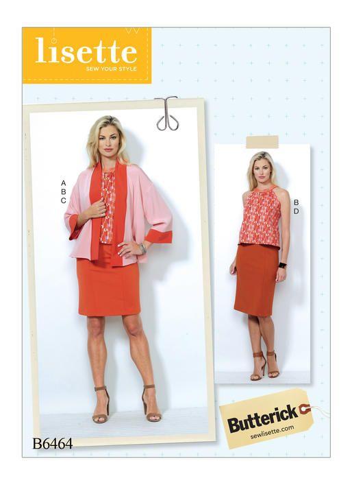 Lisette for Butterick sewing pattern. B6464 Misses\' Banded Jacket ...