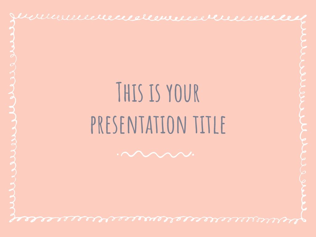 This Free Presentation Template Has A Cute Collection Of Sketchy Borders To Add A Warm Feel Cute Powerpoint Templates Google Slides Themes Powerpoint Templates