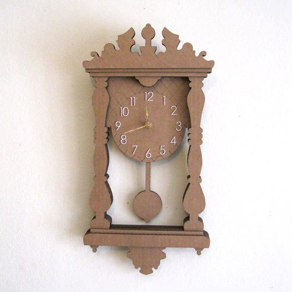 Wall Hanging Grandfather Clock cardboard pendulum wall clock - i made one of these with my