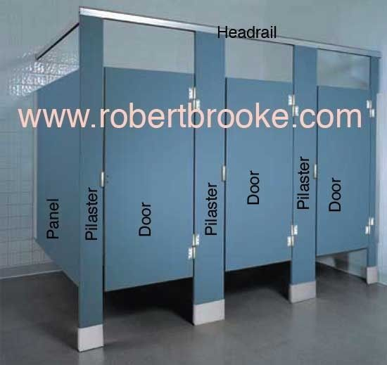 Wk8 toilet partition solid plastic door 39 s these doors go for Bathroom stall partitions parts