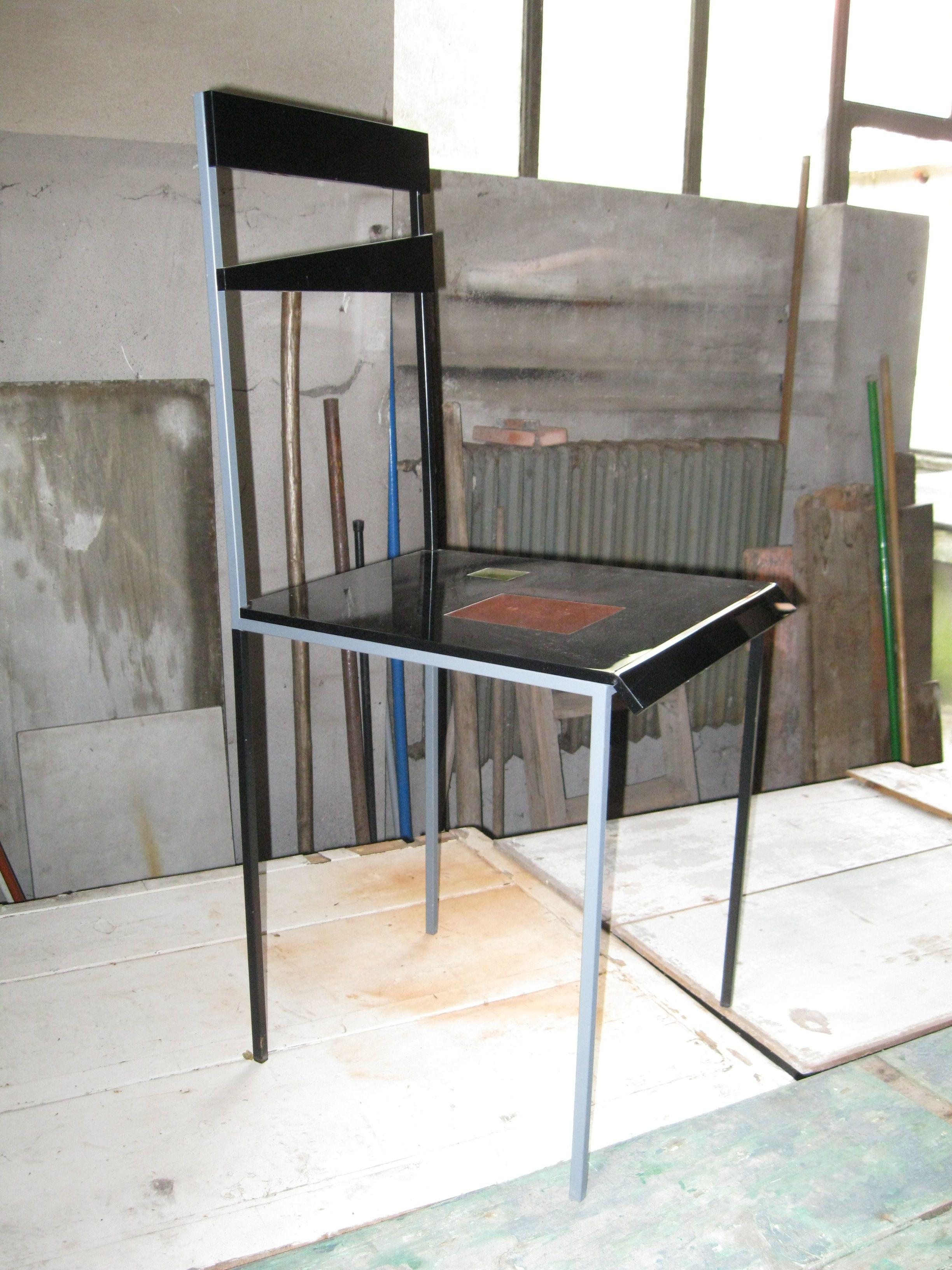 NERINA NERI sedia acciaio+ plexiglass | Sedie, Acciaio