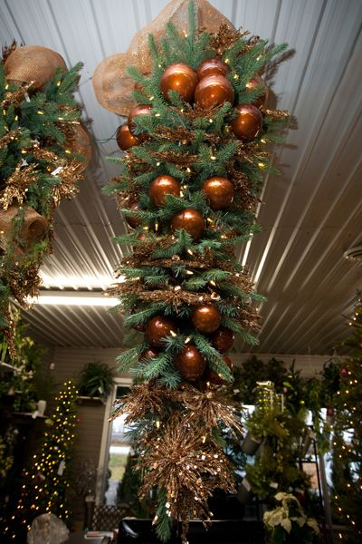 Who says you can't hang a Christmas tree from the roof? Upside down tree 2012   Christmas tree ...