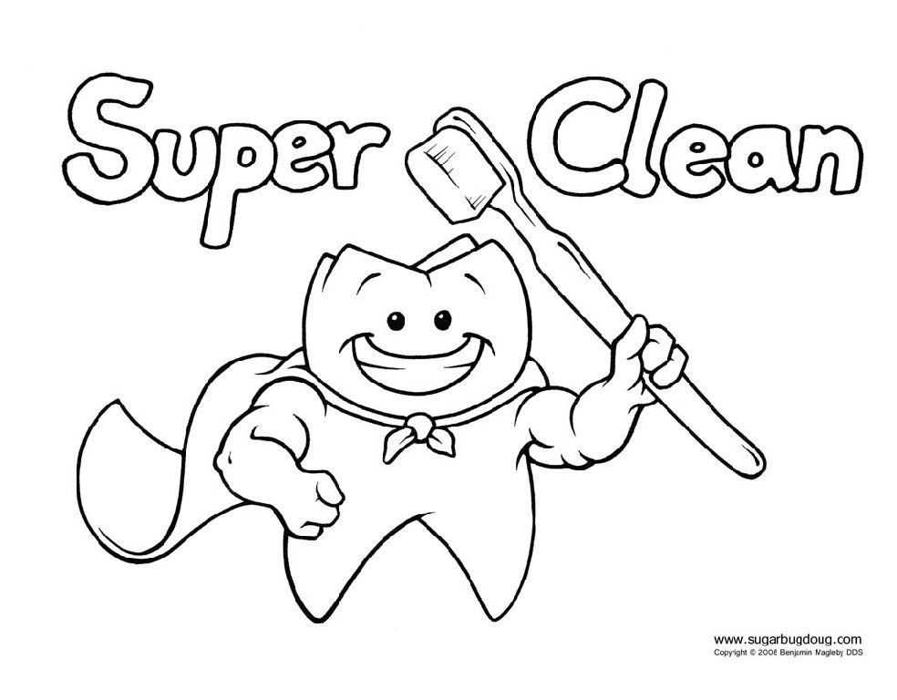 dental coloring pages for preschoolers - photo#15