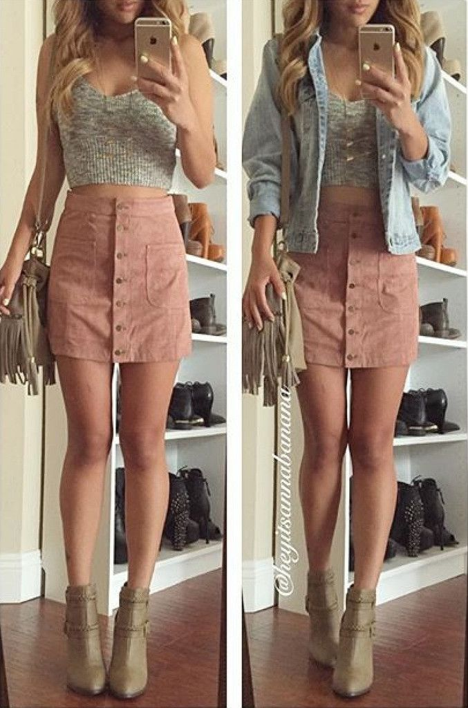 Heather Suede Skirt - Pink – Colors of Aurora | OOTD | Pinterest ...