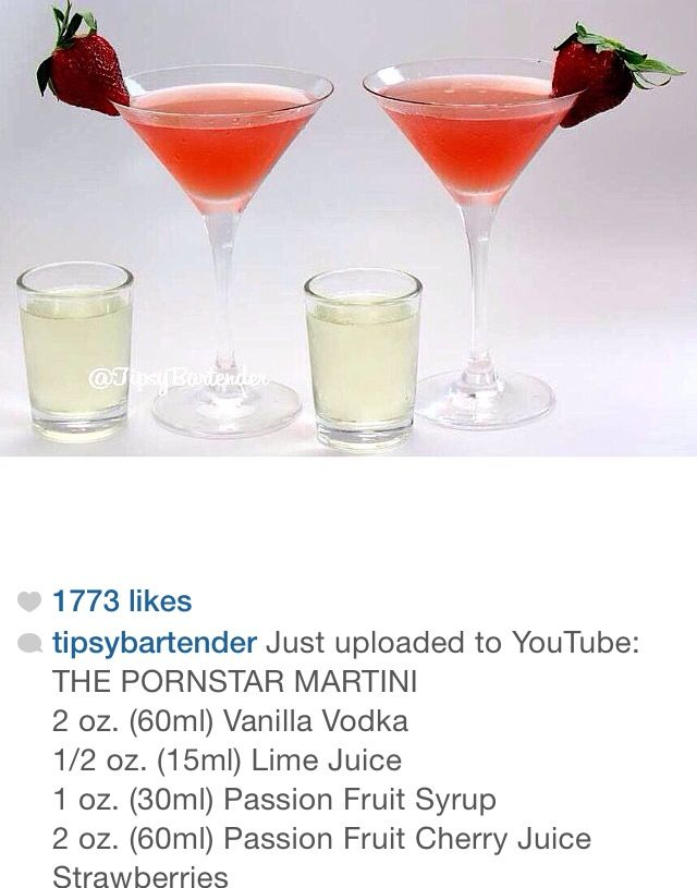 Pornstar Martini Food Pinterest Martinis Cocktail