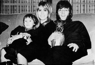 The Lennon family with their pet