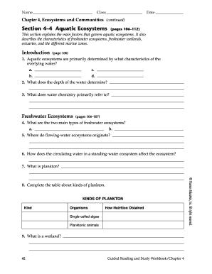Worksheets   Education.com   Aquatic ecosystem, Ecosystems ...