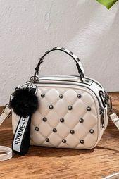 Bolsos de mensajero vintage para mujer Bolso de hombro acolchado de diseño de marca de moda # diseño #m …