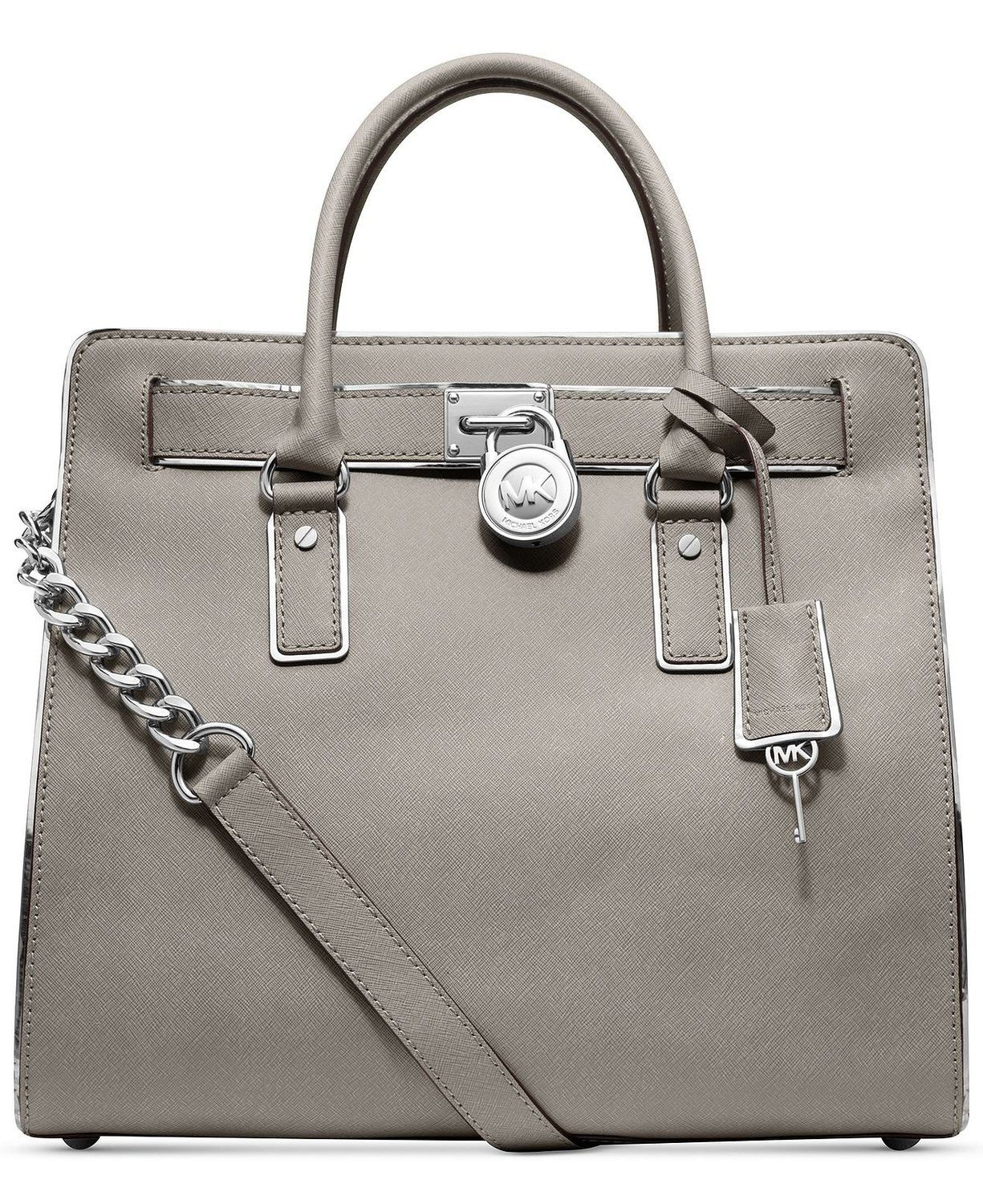 0619bc6fe45e Michael Kors Hamilton Specchio Pearl Grey Leather Tote; I really like the  look of this bag & color, but the name brand is so $$$
