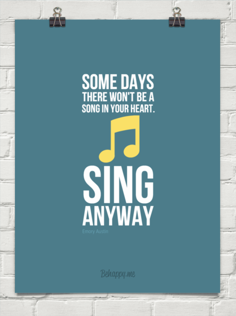 Sing anyway