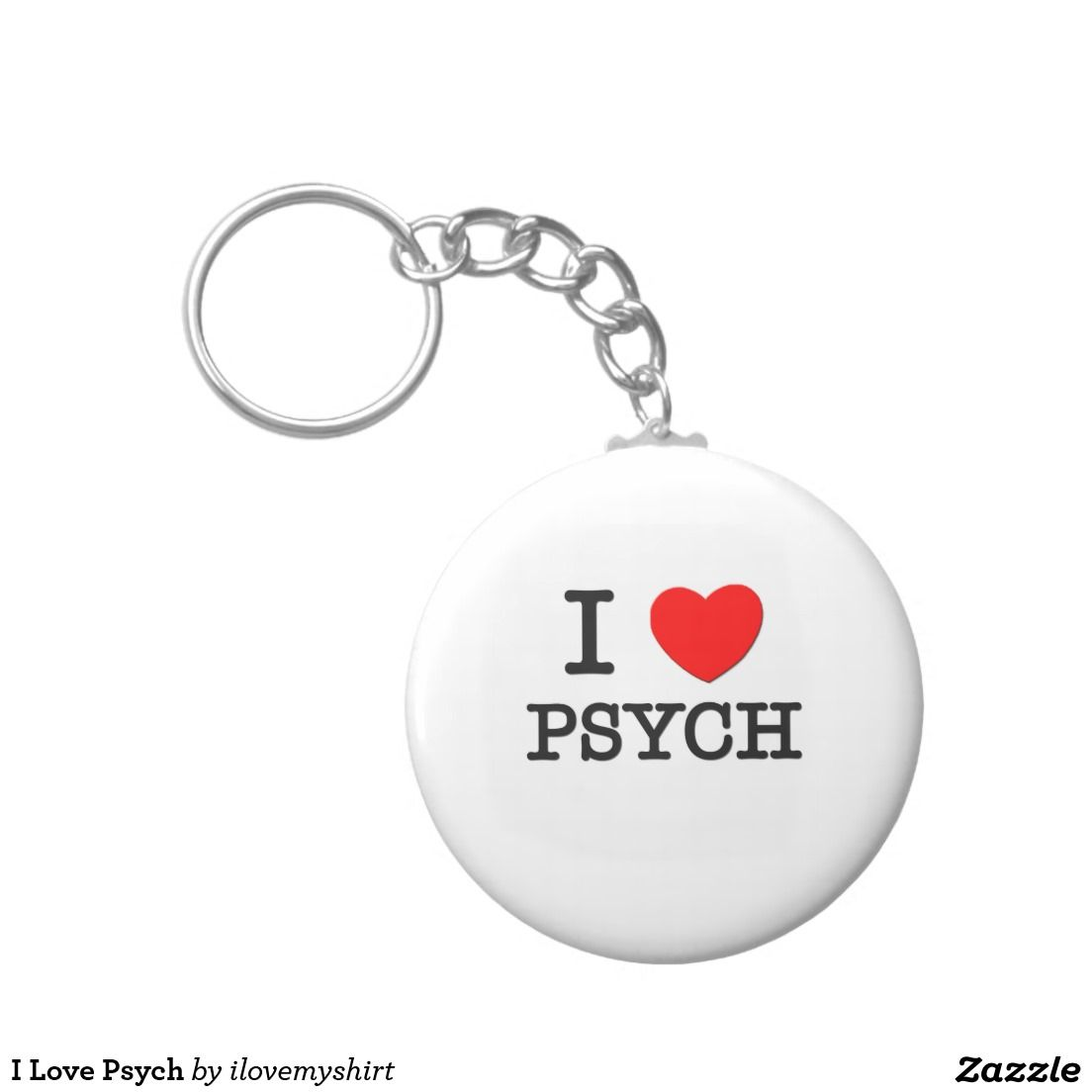 I Love Psych Basic Round Button Keychain