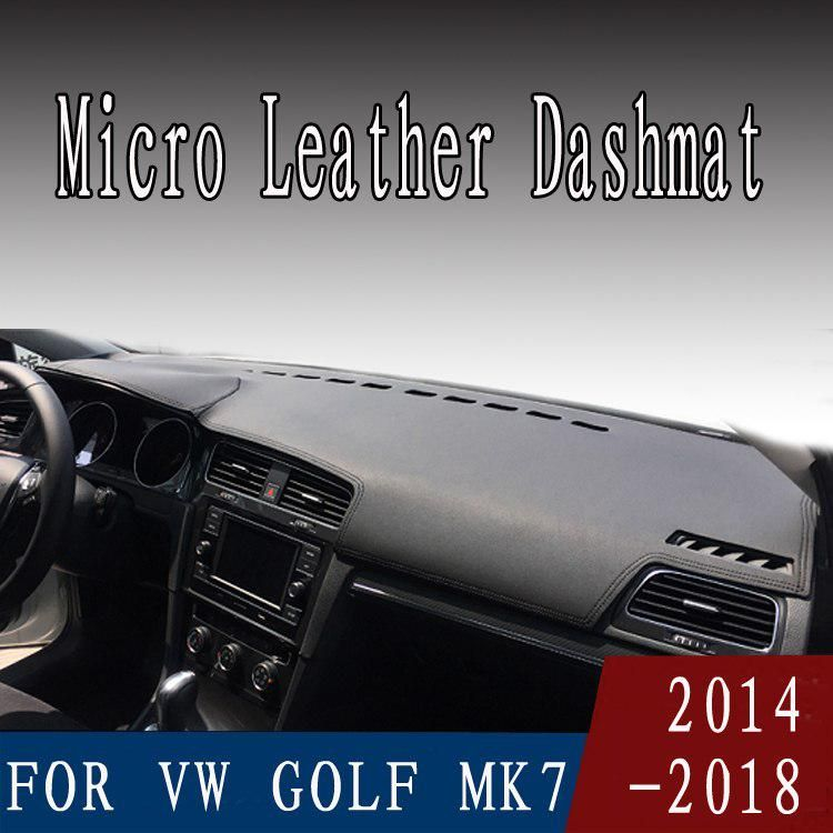 For Vw Volkswagen Golf Gti Mk7 2014 2018 Micro Leather Dashmat