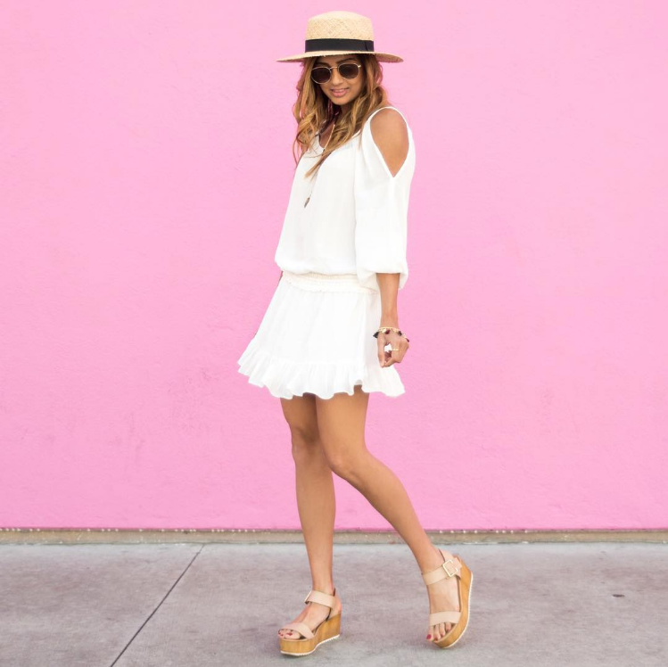 A little white summer dress! This little boho frock is light and flirty, just perfect for those hot summer days. #ootd