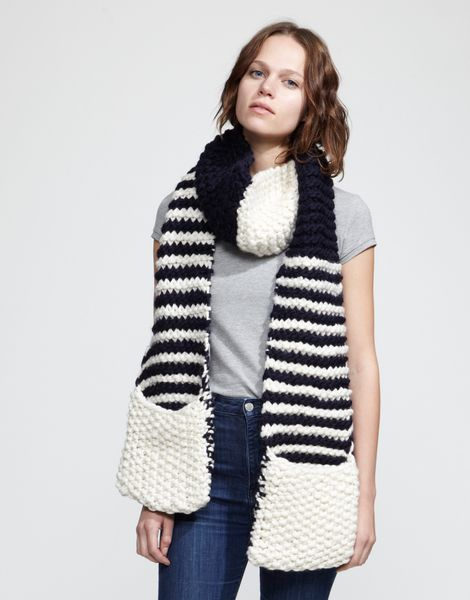 I love Wool and the Gangs Striped Jolly Pocket Scarf | KNITTING ...