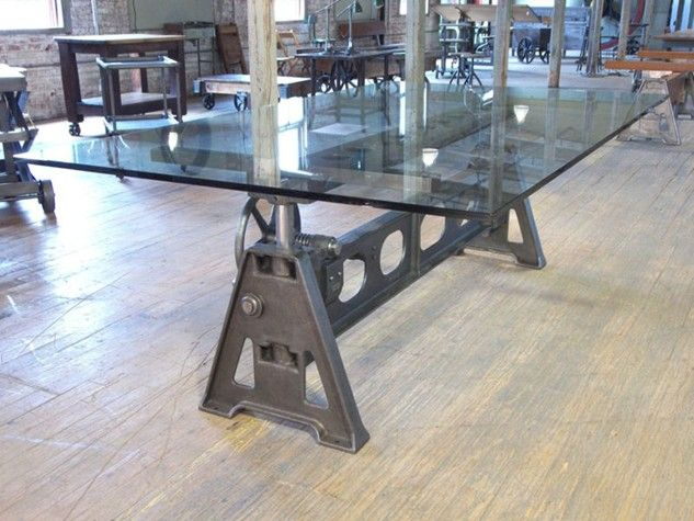 vintage industrial american made adjustable cast iron table base tables all
