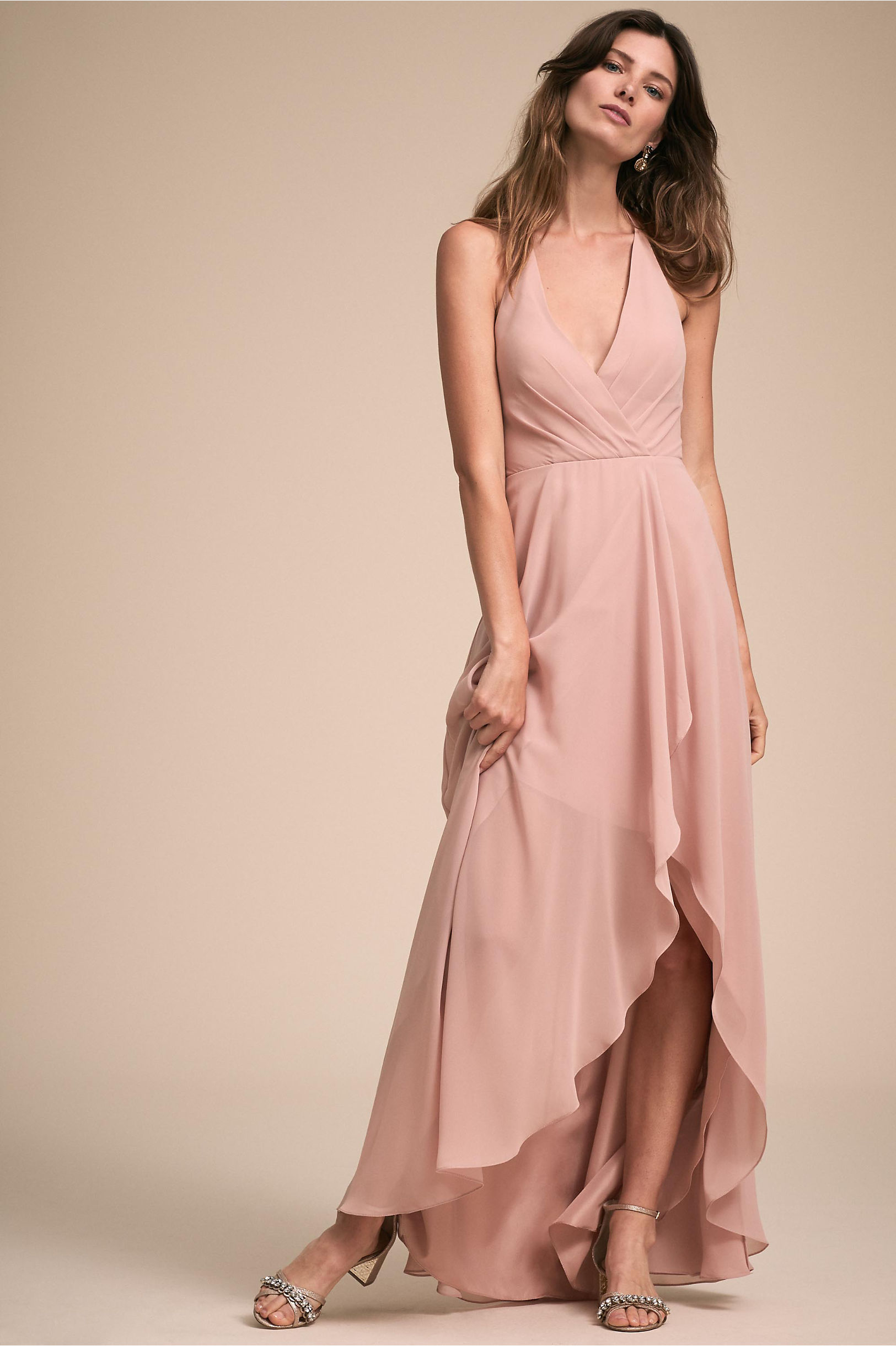 904ca75d413c9 BHLDN's Jenny Yoo Farrah Dress in Whipped Apricot | Products ...