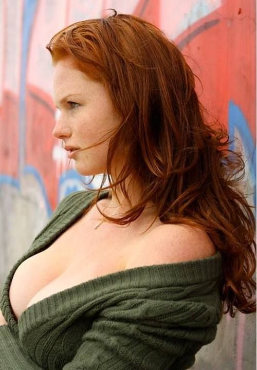 Busty red head girls naked
