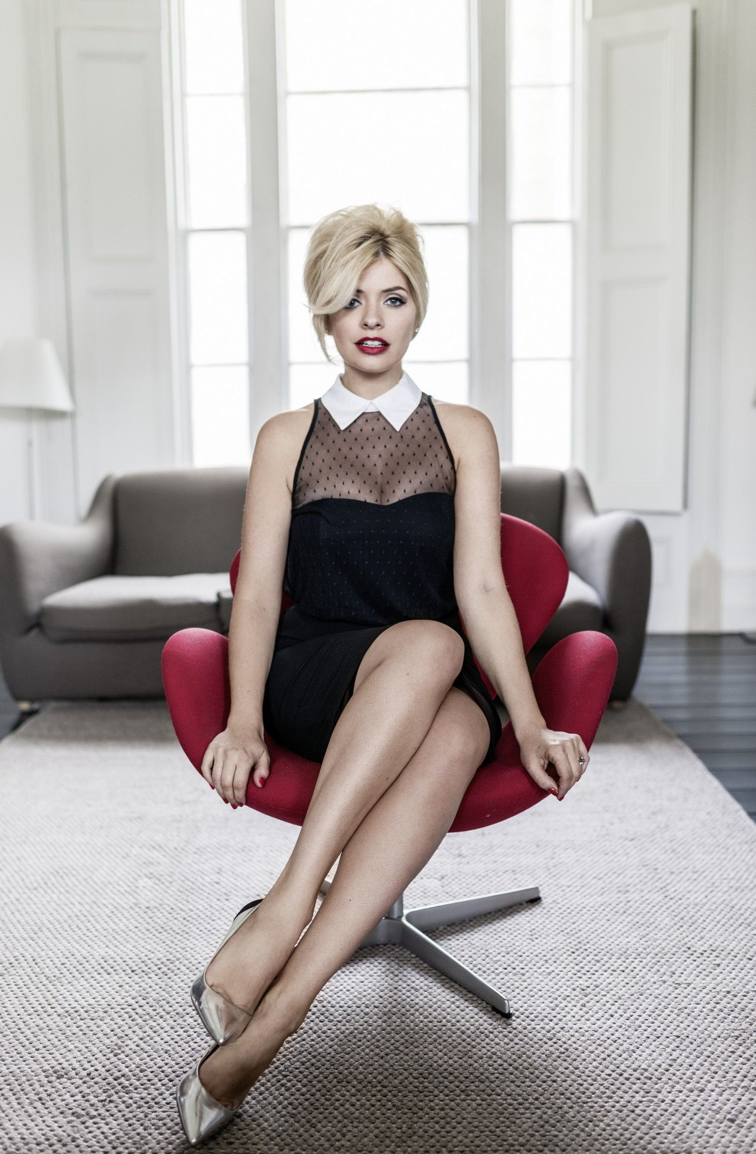 Holly Willoughby Mesh Top Bodycon Dress http://www.very.co.uk/holly ...