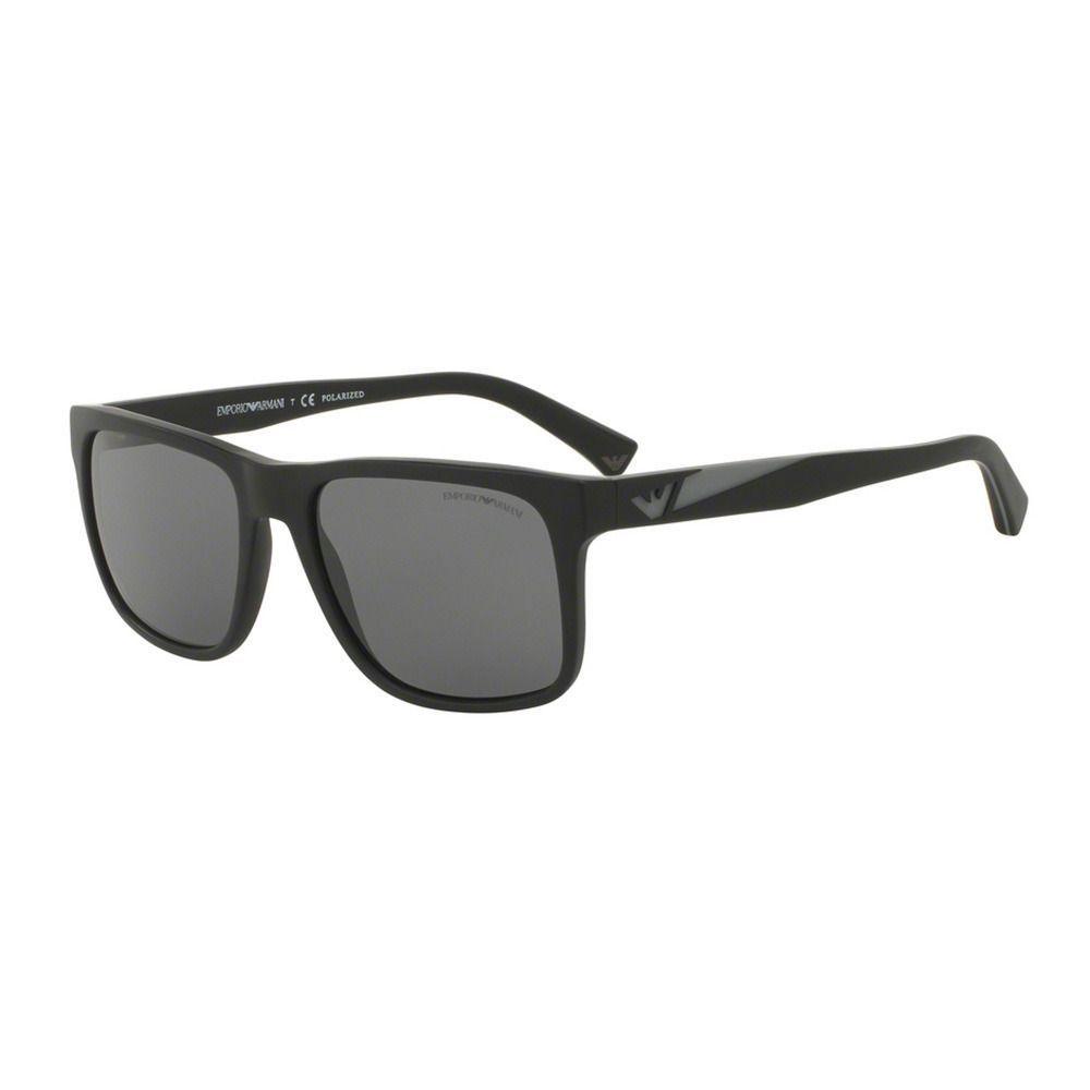18d67b80817 Emporio Armani Men s EA4071 504281 Black Plastic Square Sunglasses define  the Italian tradition of fine craftsmanship and are based on modern  optimism
