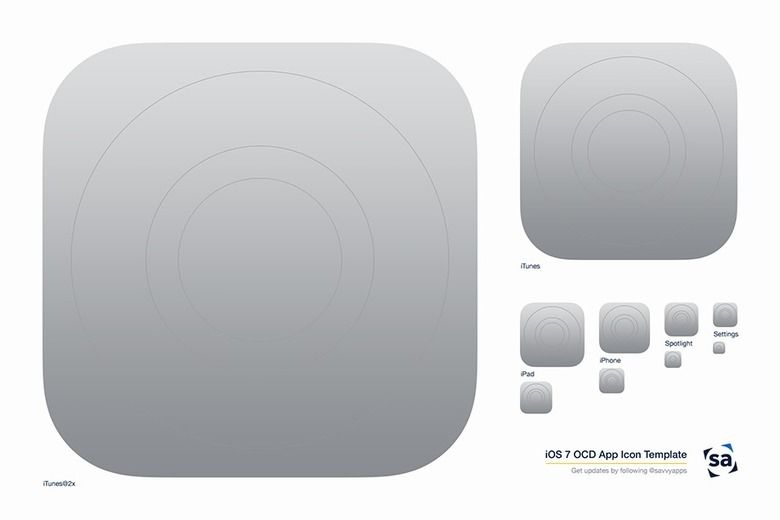 An iOS 7 App Icon Template for Obsessive Designers - savvy apps - iphone app icon template