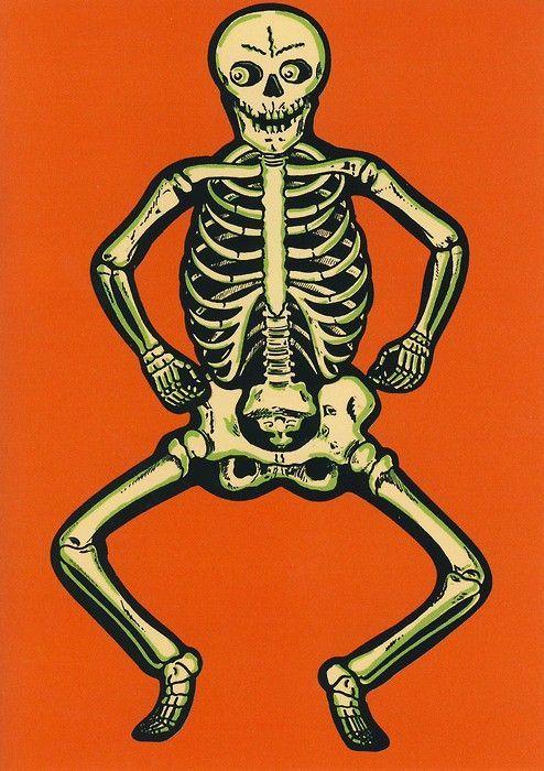 Vintage Halloween Skeleton Images