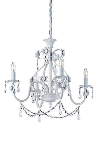 Patriot Lighting Chandelier: Dierdre 4 Light 20 Antique White Chandelier at Menards SALON!,Lighting