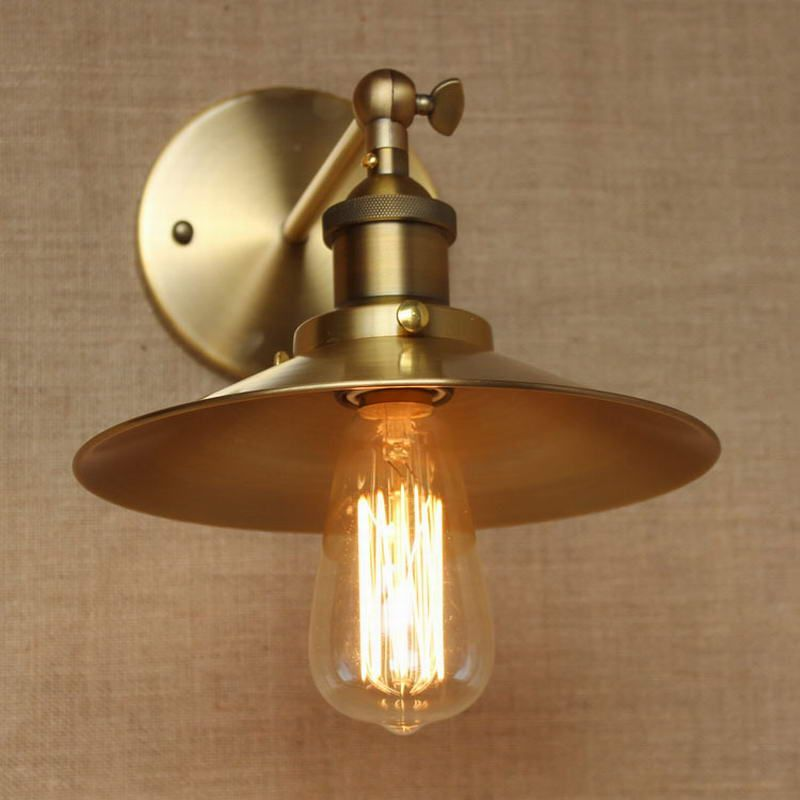 LOFT Lamp Discount Lighting Antique Gold Metal Wall Lamp/industrial Style  Adjust Wall Lamp For