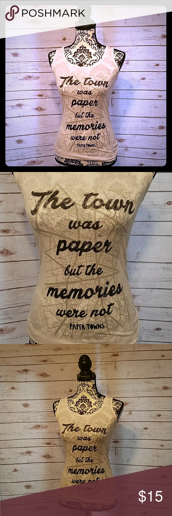 Paper towns tee Beautiful quote from the movie paper towns on this cute tank top! Paper towns  Tops Tank Tops