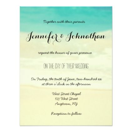 engagement party invitations Simple beach wedding invitations