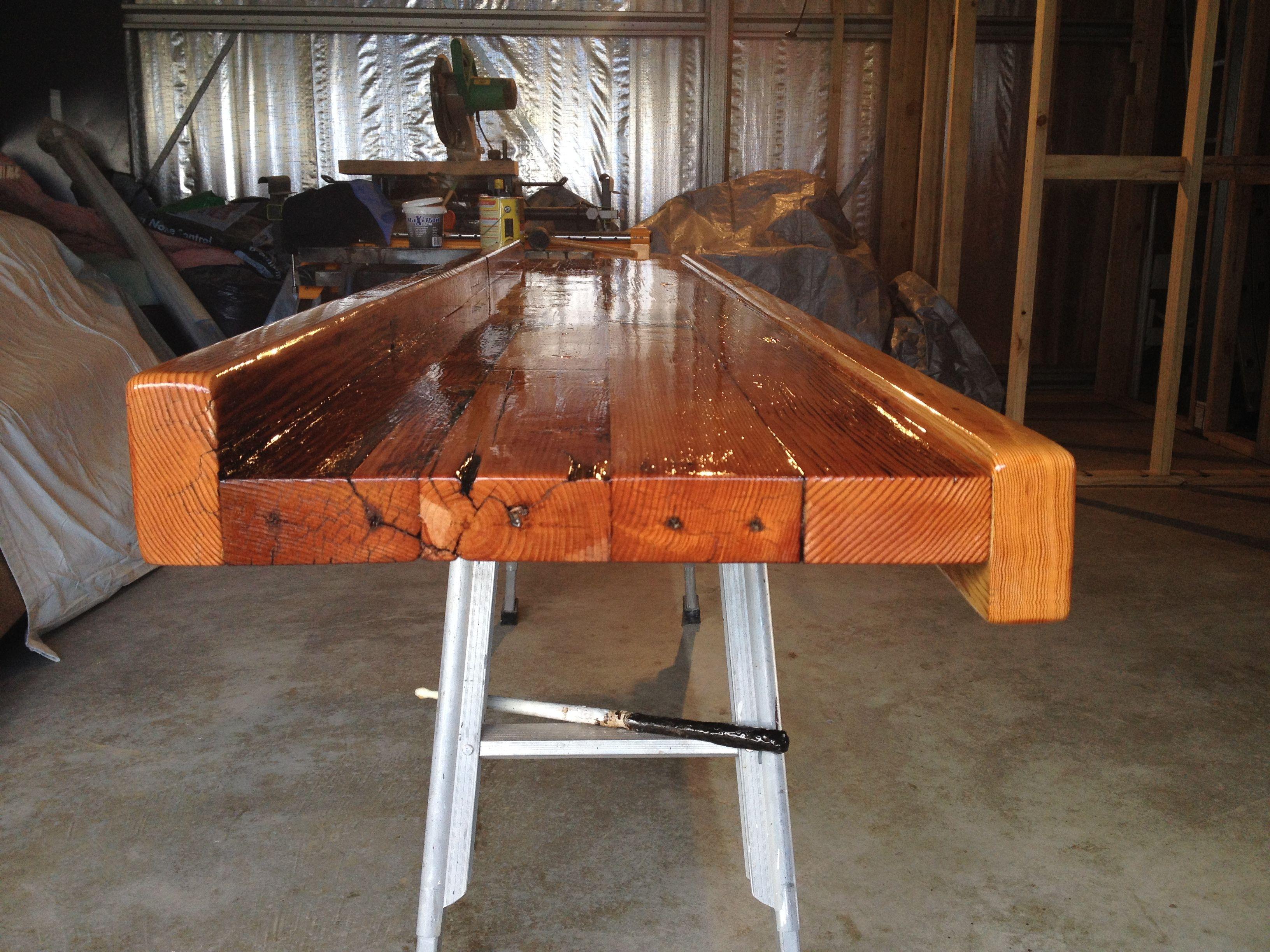 Merveilleux Bar Top / Left Side  Varnished With Cabots Marine Grade Exterior Varnish